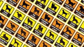 オンボードステッカー犬種別シルエット10cm